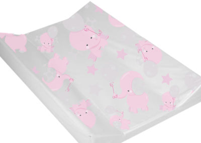 Wedge Changing Mat  - Pink Balloon Elephant
