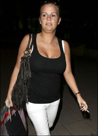 Kerry Katona smoking