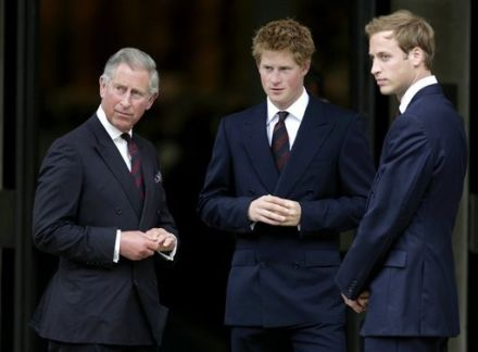 prince harry william and charles