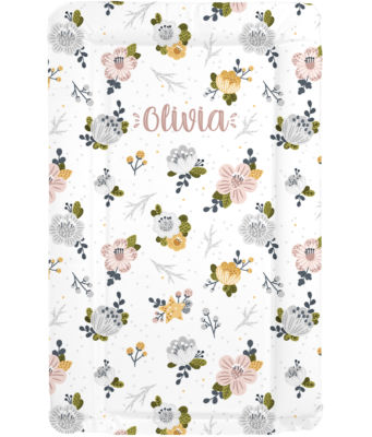 Changing Mat - Personalised - Muted Floral