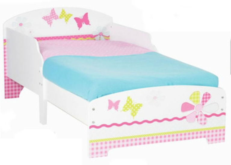 Girls Toddler Bed Butterfly