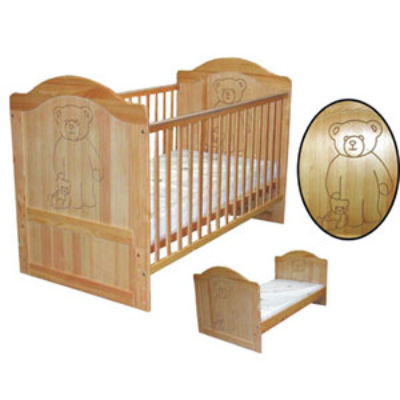 Mattress to fit BARNEY cot bed - mattress size is 140 x 69 cm.