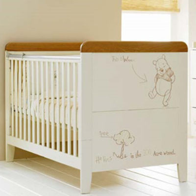 Mattress to fit Cosatto Sketch Book Pooh cot bed - mattress size is 140 x 70 cm.