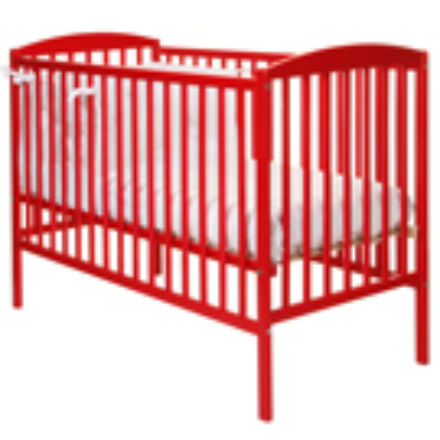 Kiddicare.com Funky Cot - Red - mattress size is 117 x 53 cm