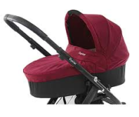 Photography of Custom Made Mattress to fit Babystyle Oyster Carrycot  - Claret (2012) - size & shape as our template