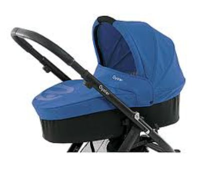 Custom Made Mattress to fit Babystyle Oyster Carrycot  - Electric Blue (2012) - size & shape as our template