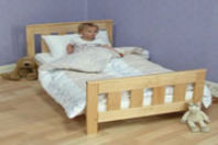 Photography of Mattress to fit Saplings Cordoba junior bed - mattress size is 140 x 69 cm.