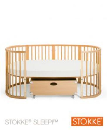 stokke sleepi converted to junior bed