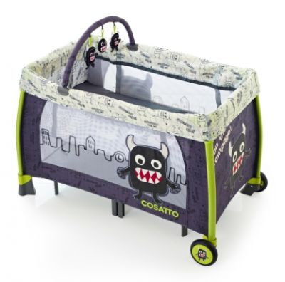 Mattress to fit Cosatto Moon Unit Travel Cot - Little Monster - 112 x 63 cm (2013)
