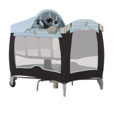 travel cot mattress to fit Graco Contour Electra Basinette in Infinity Blue - mattress size 96 x 64 cm - Toys R Us 2010