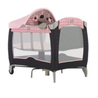 Photography of travel cot mattress to fit Graco Contour Electra Basinette in Infinity Pink - mattress size 96 x 64 cm - Toys R Us 2010