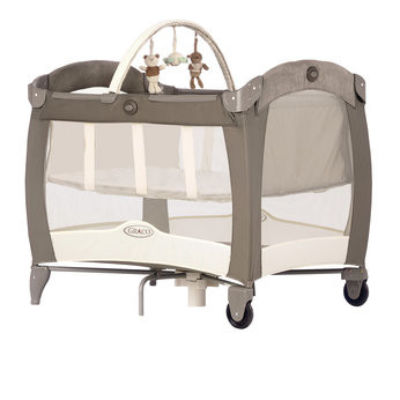 travel cot mattress to fit Graco Contour Electra Basinette with Napper - I Love My Bear - mattress size 93 x 64 cm Toys R Us 2010
