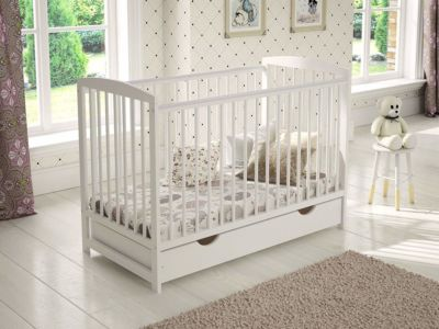Mattress to fit White Wooden Baby Cot with Drawer 120x60cm as sold by Love to Sleep