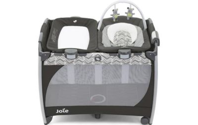 Travel Cot Mattress to fit Joie commuter travel cot with customclick - woodland mint 99 x 66 cm
