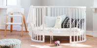Photography of Stokke oval JUNIOR BED when converted to Stage 3 - 160 cm length