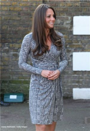 Kate's baby bump Feb 2013