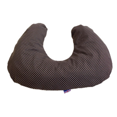 Nursing & Feeding Cushion - Chocolate pin spot