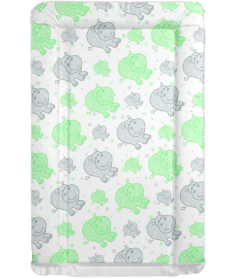Changing Mat - Hippos - Grey and Green
