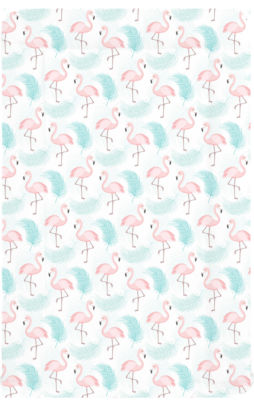 Changing mat - Blue Flamingo