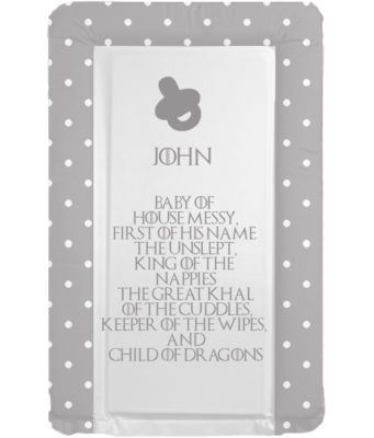 Changing mat - GoT Boys - Child of Dragons - Can Be Personalised