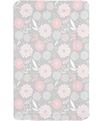 Changing mat - Grey with Pink Flowers