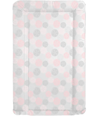 Changing mat - Pink and Grey Flowers