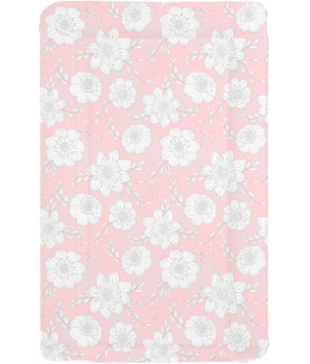 Changing mat - Pink with Grey Flowers