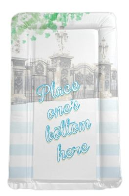 Royal Baby Themed Changing mat - Place One's Bottom Here (blue)