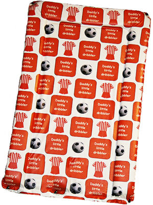 Changing Mat - Daddy's Little Dribbler - Red