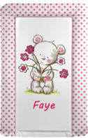 Photography of Changing Mat - Personalised - Flower Bear - Pink