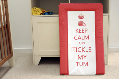 Changing Mat - Keep Calm & Tickle my Tum BRAND NEW DESIGN JUNE 2016