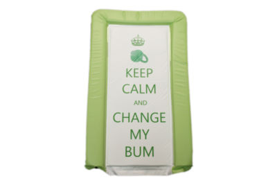 Changing Mat - Keep Calm & Change my Bum - Lime