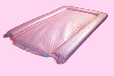 Changing mat - Mick Gingham Pink