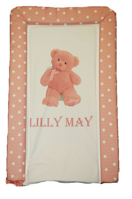 Changing Mat - Personalised - My 1st Teddy - Pink