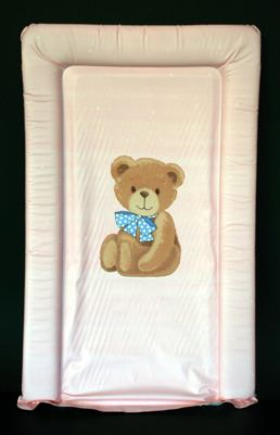 Changing Mat - Panel Bear - Pink