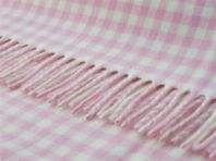 Photography of Bronte tweed blanket - pastel pink & white gingham check