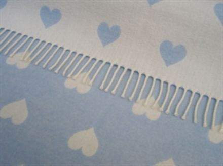 jacquard hearts powder blue