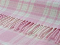 Photography of Bronte tweed blanket - pastel pink & white Menzies check