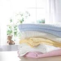 Photography of DK Cotton Cellular Blanket for prams, cribs & moses baskets - assorted colours