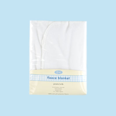 Fleece pram blanket - white